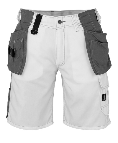 MASCOT® Zafra - wit - Shorts met CORDURA®-spijkerzakken, lichtgewicht